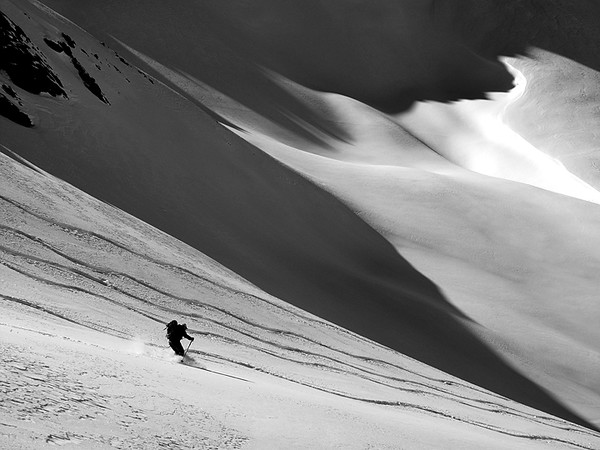 Colorado Backcountry Skiing in avalanche terrain