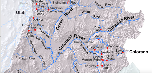 Map of Upper Colorado River Watershed