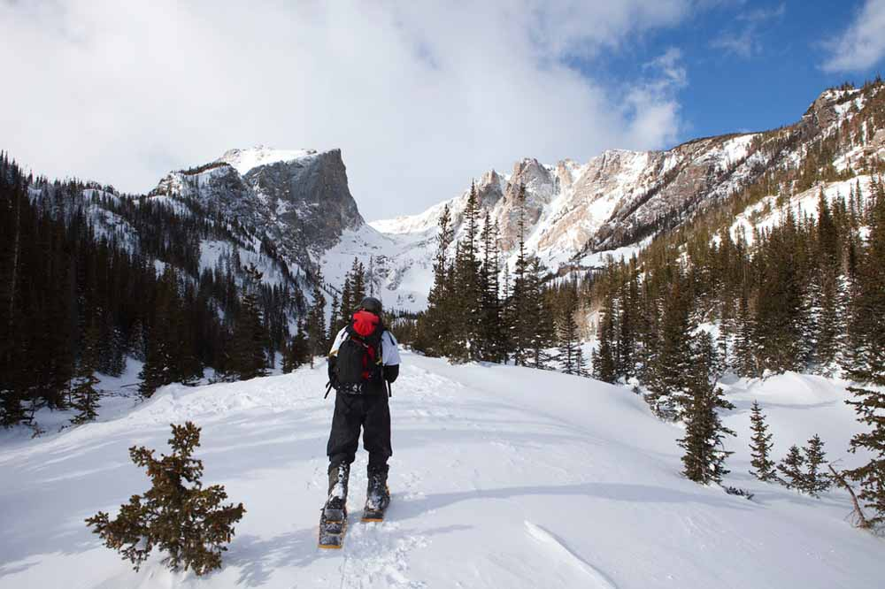 Rocky Mountain National Park Snowshoe Hike