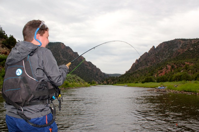 Upper Colorado River Guided Fly Fishing - caught a big one!