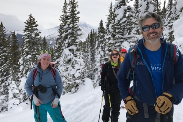 group shot of skiers out for a winter adventure