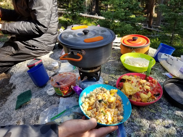 Great Backpacking Food on Colorado Wilderness Rides And Guides Backpacking Trips