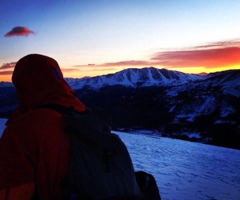 evening ski trip