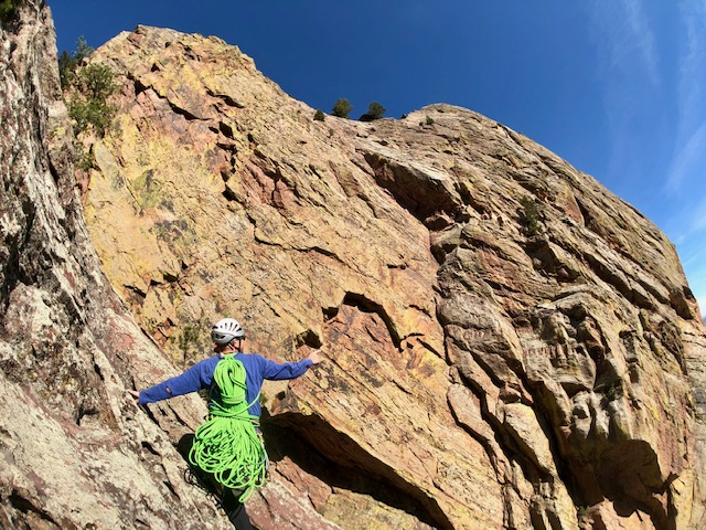 Upper Wall Eldorado Canyon State Park - Boulder Rock Climbing Guided Trips