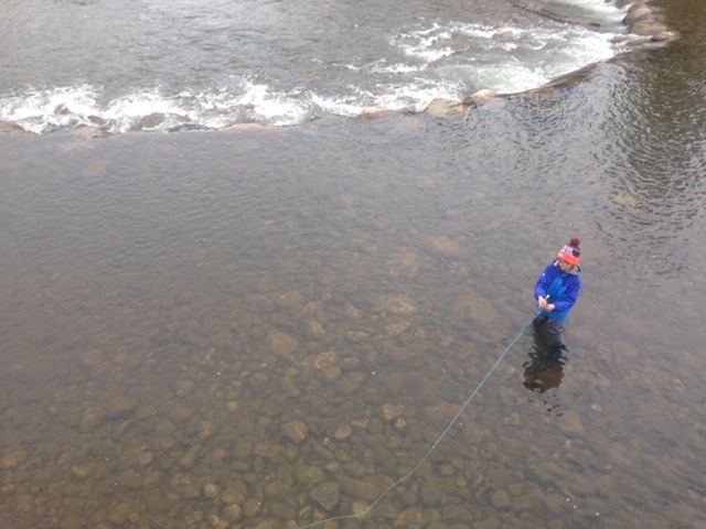 Fly Fishing Blue River in Winter