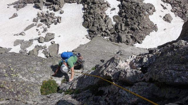 Guided Alpine Rock Climb on Hallett Peak in Rocky Mountain National Park with Colorado Wilderness Rides And Guides