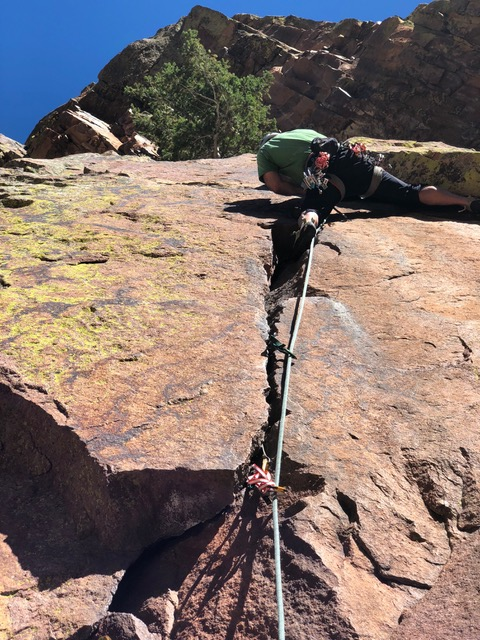 Guided Rock Climbing Boulders Flatiron Colorado Wilderness Rides And Guides - Lead By Example