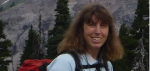guide Jill Yarger outside on a mountain hike