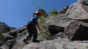 toddler rock climbing outdoors