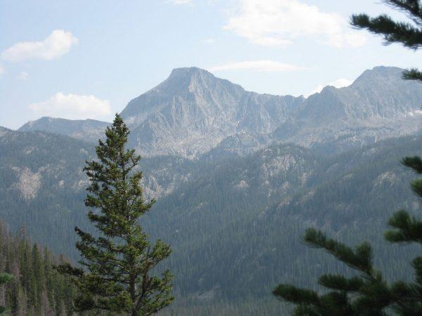 high mountain peaks landscape shot