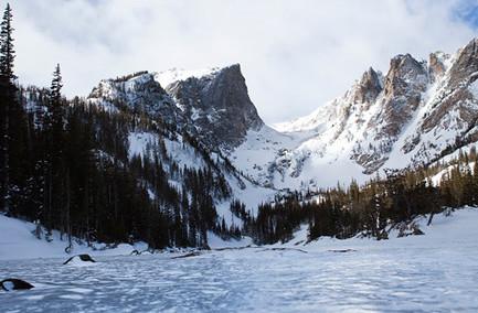 winter mountain landscape shot
