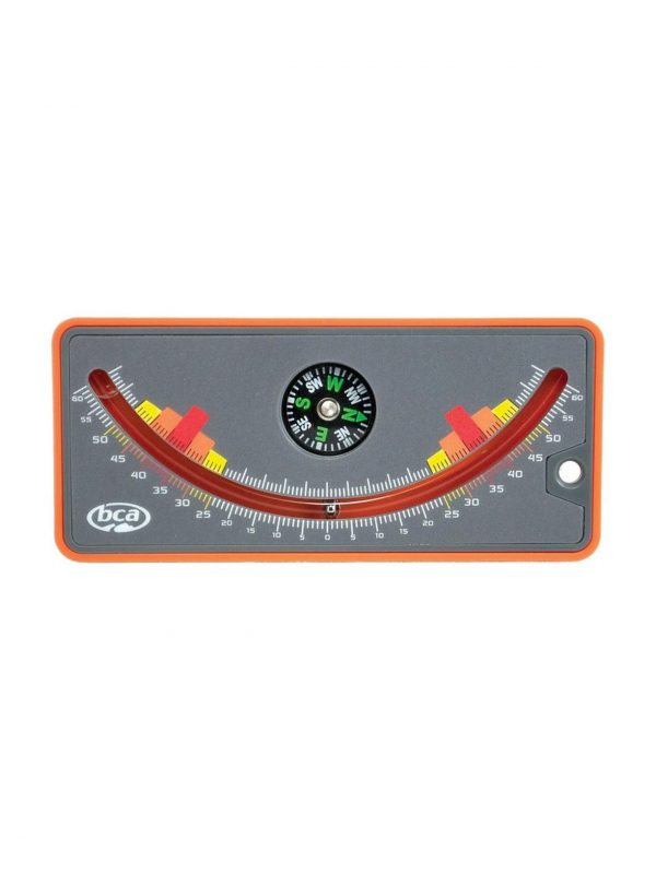 snow slope curved meter with a compass in the middle